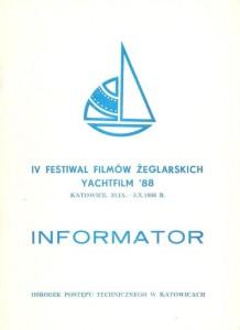 IV Festiwal Filmów Żeglarskich - Informator